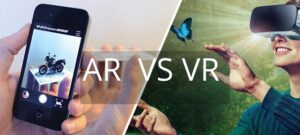 augmented reality (AR) or virtual reality (VR)