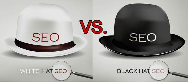 difference between white hat SEO and black hat SEO